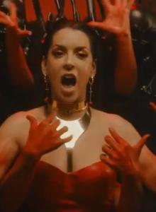 Ruth Lorenzo from the music video of 'Underworld'
