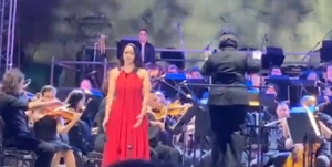Federica Falzon with the Malta Philharmonic Orchestra