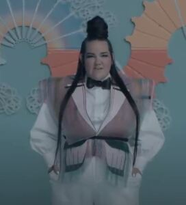 Netta from the 'Cuckoo' music video