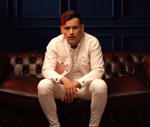 Szabó Ádám from the music video of 'Gyengéden'