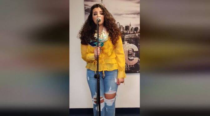 Listen to Christina Magrin and her cover of 'The Joke'