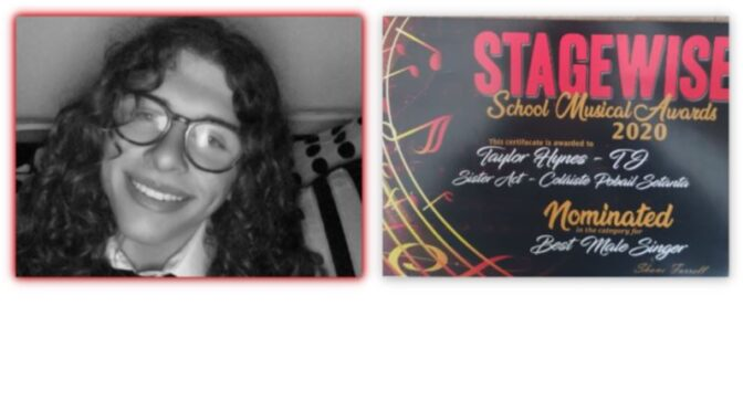 Taylor Hynes receives Stagewise school music award nomination