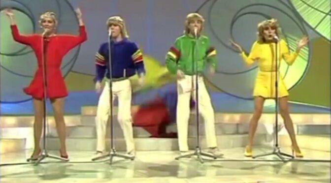 40 years today since Bucks Fizz won Eurovision with 'Making Your Mind Up'