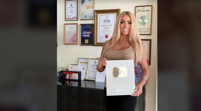 Svetlana Agarval receives Silver Button award from YouTube