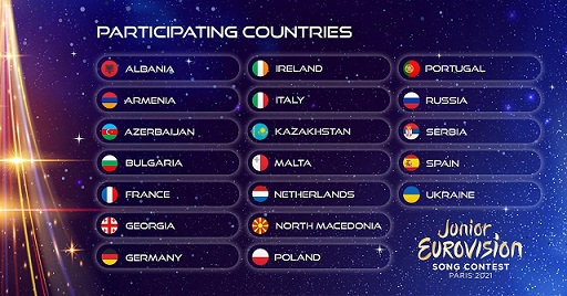 19 COUNTRIES FOR JUNIOR EUROVISION 2021