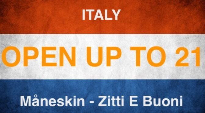 OPEN UP – to position 21 of the 2021 Eurovision entries