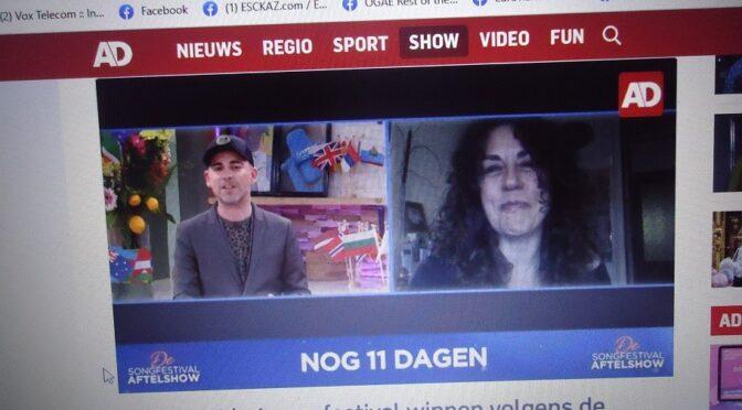 KATJA ZWART in a feature about Eurovision 2021 in Rotterdam