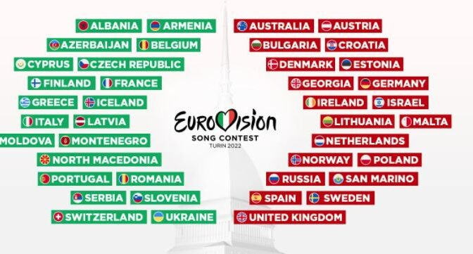 41 countries to take part in 2022 Eurovision Song Contest